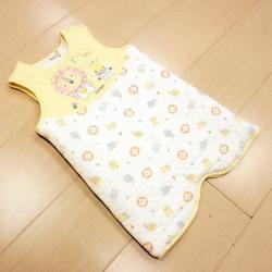 GMP BABY 純棉動物夾棉嬰兒睡袍 米黃色1件