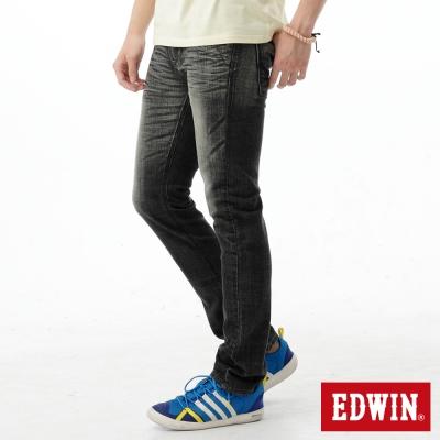 EDWIN-窄直筒-EDGE雙口袋牛仔褲-男-灰色