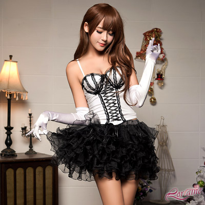 Lorrine 好穿搭黑色多層次短澎裙