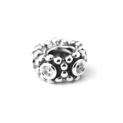 Pandora 潘朵拉 隔圈-透明鋯石鑲珠墜