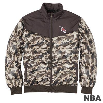 NBA-亞特蘭大老鷹隊都會迷彩羽絨外套-卡其男