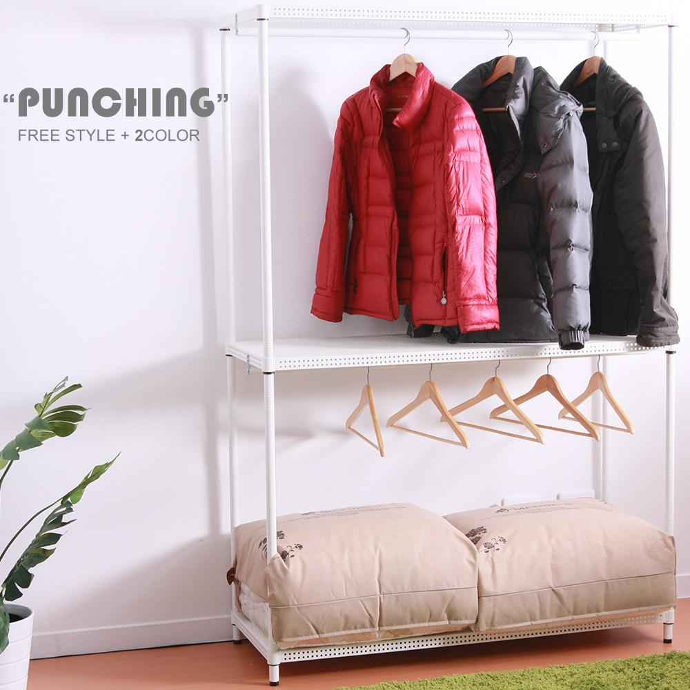 GALAXY三層雙吊衣櫥架121x46x181(超荷重250kg)