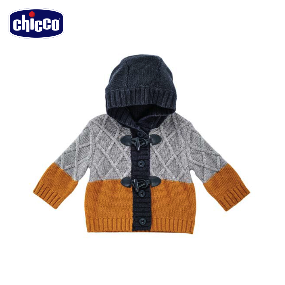 chicco北極針織連帽外套-灰(12個月-18個月)