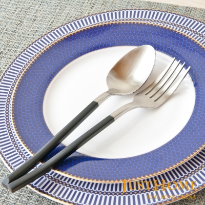 Just Home雅典娜不鏽鋼鍍鈦餐叉+餐匙(2件組)