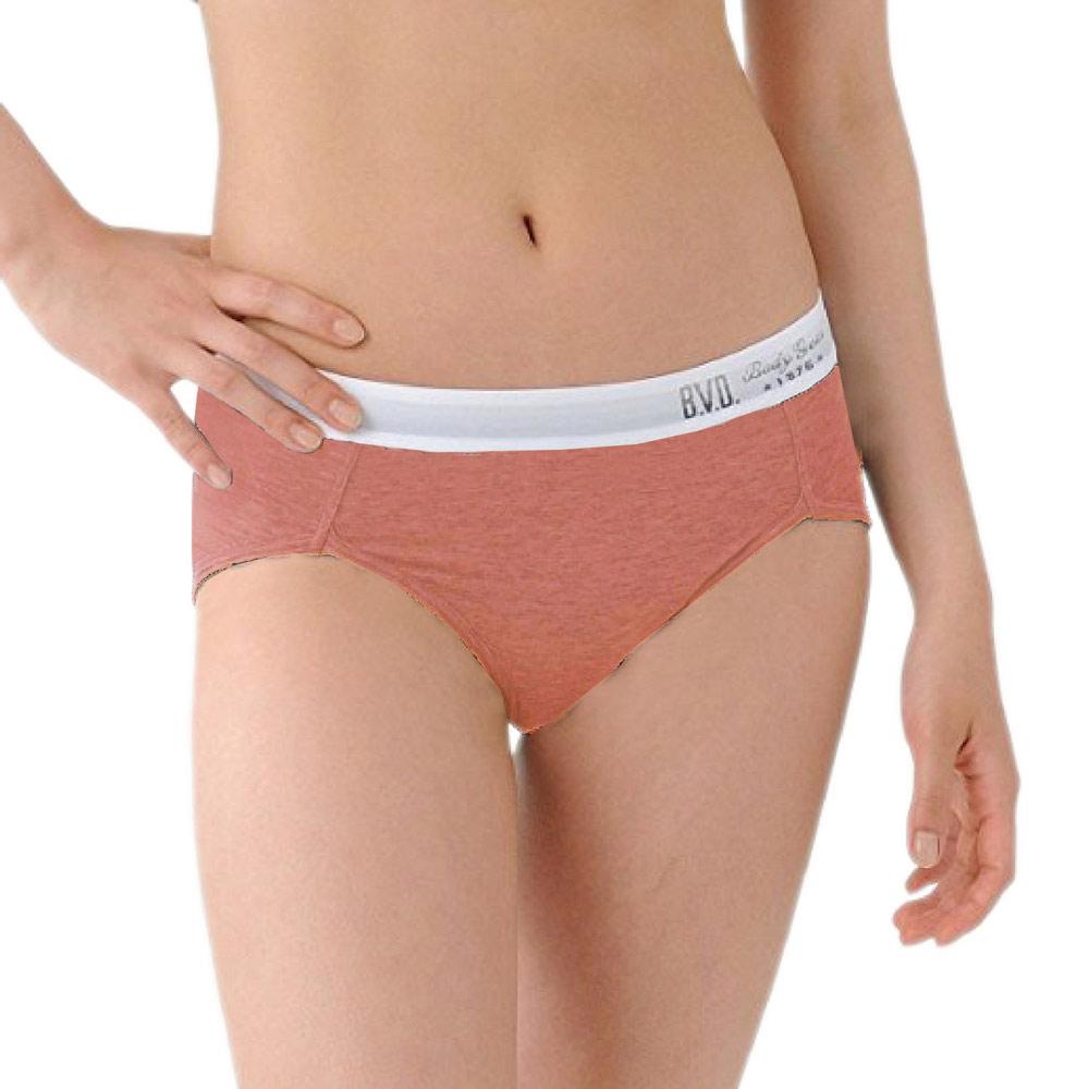 BVD Ladies  COTTON BASIC系列 開高衩三角內褲(橘色)