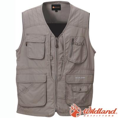 Wildland 荒野 W1706-92中灰 中性 透氣抗UV休閒背心 多口袋