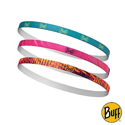 《BUFF》彈性快乾髮帶 鳶尾花影(3入/組) BF117094-555-10