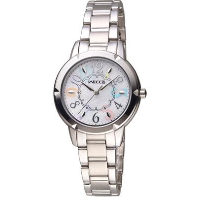 WICCA  愛莉絲夢遊仙境 時尚腕錶(BT2-718-11)-銀/32mm