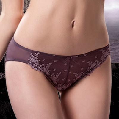 【La Felino】魅麗紫紗三角褲 (魅力紫)