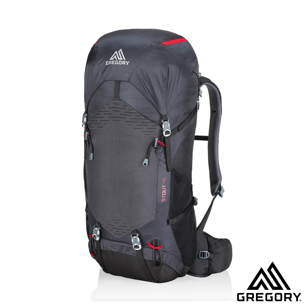 買就送攻頂包★Gregory STOUT 45L 登山背包 煤灰