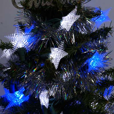 LED燈50燈星星造型燈(藍白光)(省電高亮度)(附IC控制器)