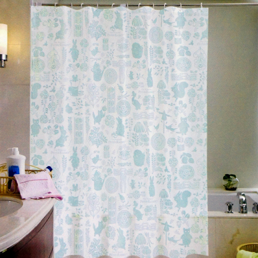 彼得兔單色經典浴簾