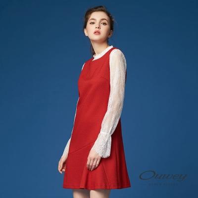 OUWEY歐薇 復古磚紅背心洋裝(磚)
