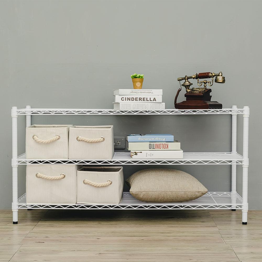 dayneeds輕型三層鐵架烤漆白120x45x60cm