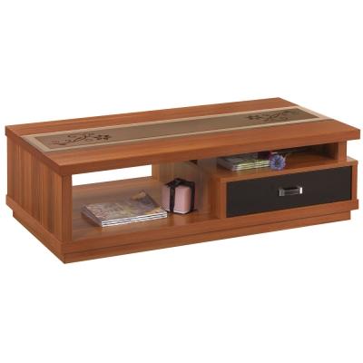 品家居 布洛4.5尺木紋大茶几-135x69.5x40cm-免組