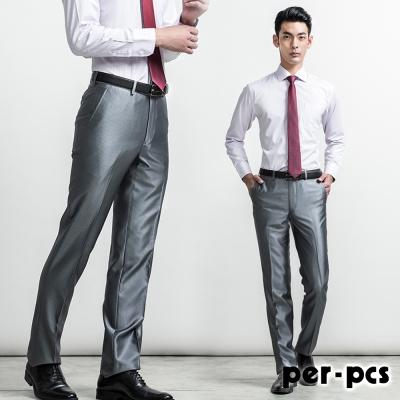 per-pcs 首選經典直條紋平面西褲_灰色(714116)