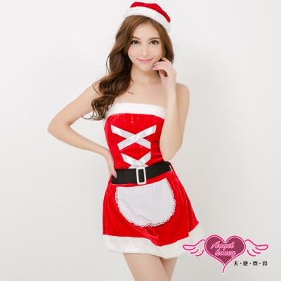 耶誕服 聖誕甜心女僕 狂熱聖誕舞會角色服(紅F) AngelHoney天使霓裳