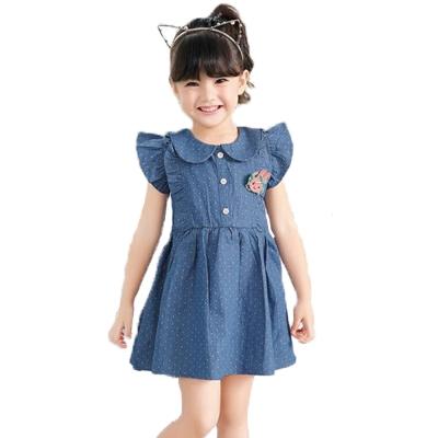 短袖牛仔洋裝 k50112