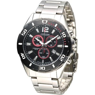 CITIZEN 極酷先鋒計時男錶-IP黑框(AN7110-56F)/42mm 保固二年