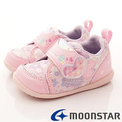 日本月星頂級童鞋 甜心機能款 FO304粉紅(寶寶段)HN