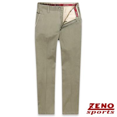 ZENO slim fit彈性修身休閒褲‧卡其30-42