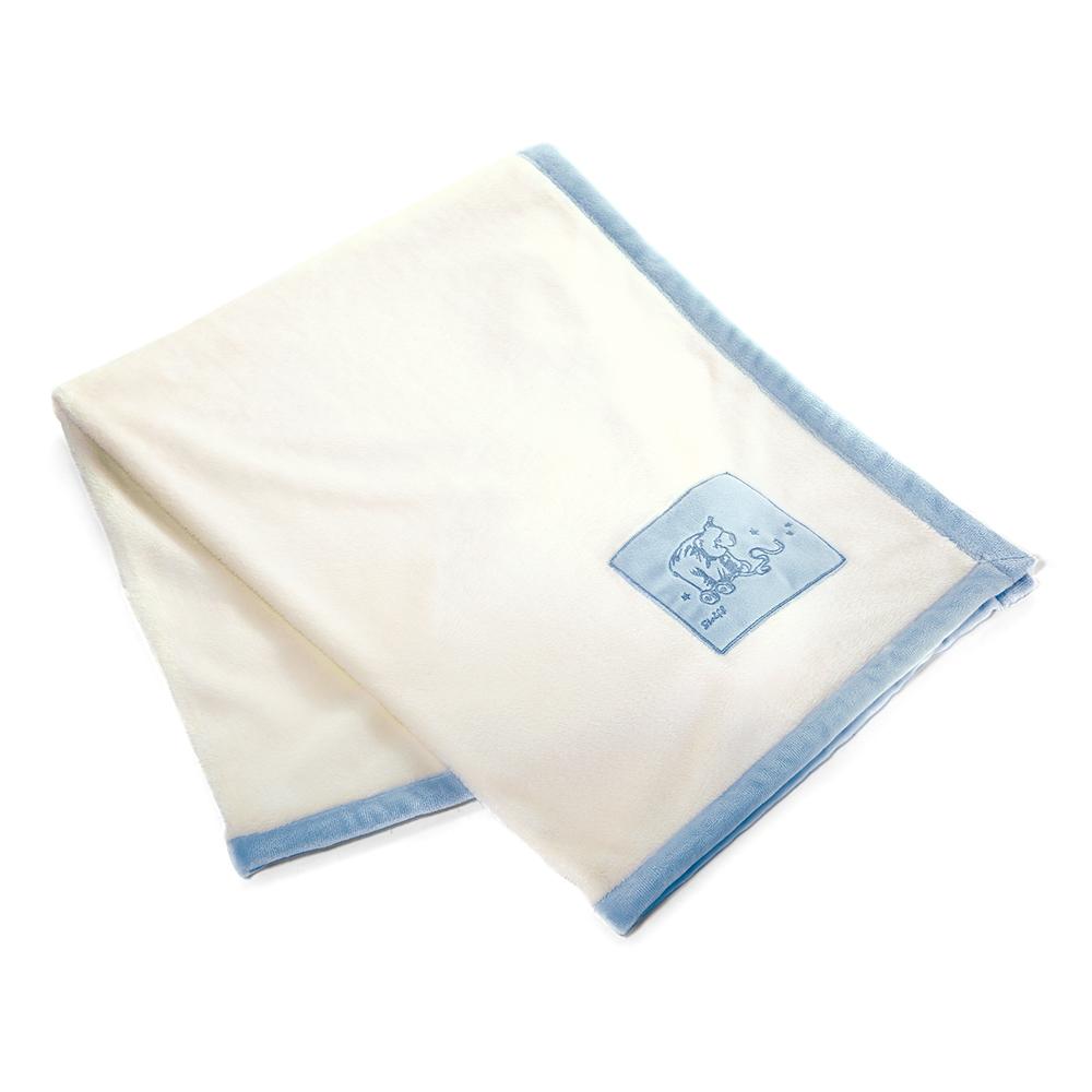 STEIFF德國金耳釦泰迪熊 - 嬰幼兒 毯子 水藍色 100x80cm