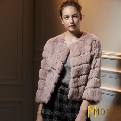 MONS-典雅高貴兔毛短外套-共二色