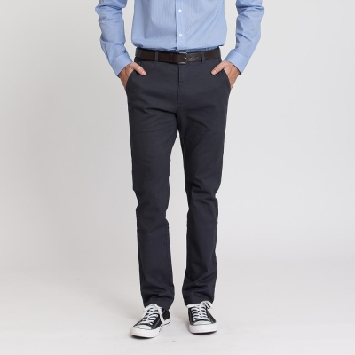 Hang Ten - 男裝 - 基本純色腰帶休閒褲 - 灰