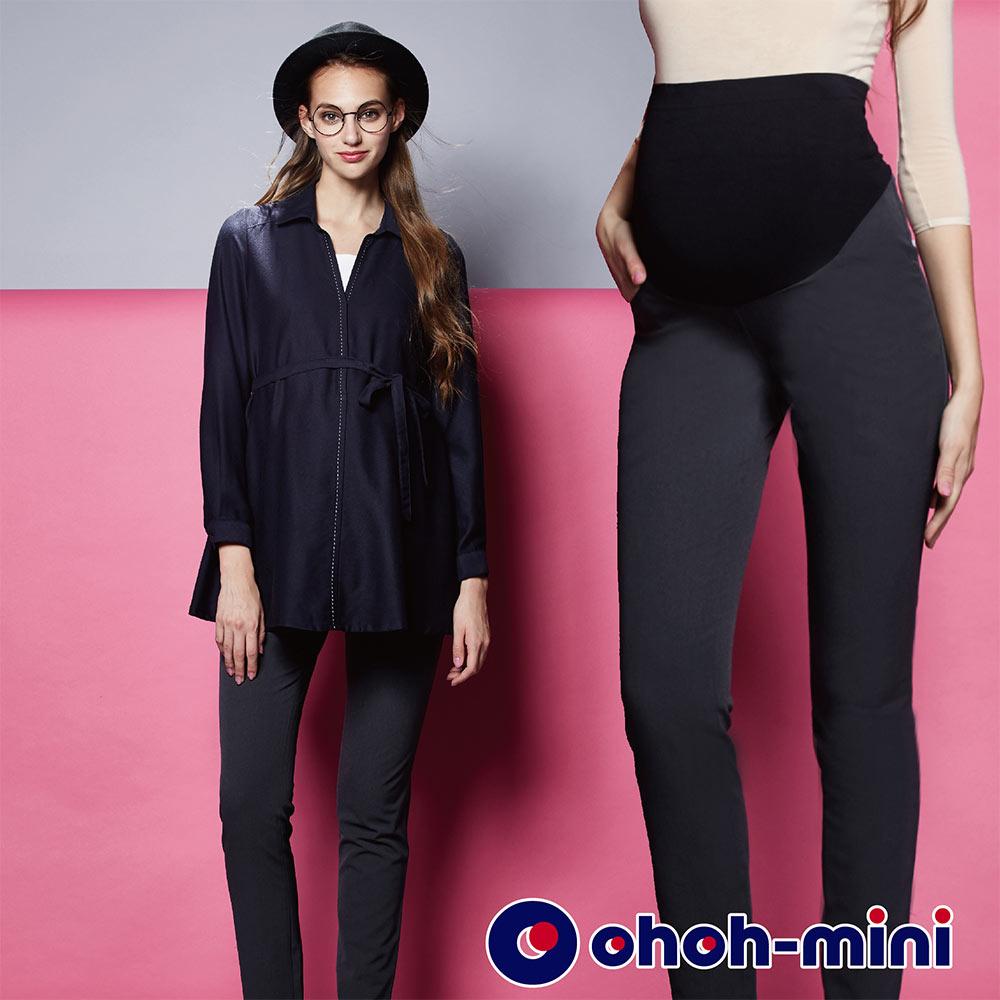 【ohoh-mini 孕婦裝】3WAY無痕彈力肚片直筒長褲