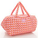 VOVAROVA空氣包-週末旅行袋-千鳥飛飛(橘)-法國設計系列