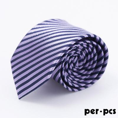 per-pcs 時尚典雅紳士雅痞領帶_紫藍斜紋(717013)