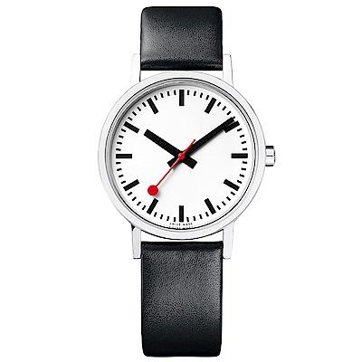 MONDAINE 瑞士國鐵平面腕錶(鐵路版)Classic Pure/36mm
