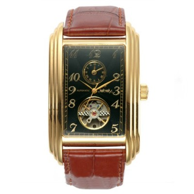 Jebely瑞士機械錶_日內瓦公約系列_雙時區機械錶-黑/40×34mm