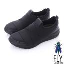 Fly London(男)-BAND潮意志 都會輕量直套運動鞋-強力黑