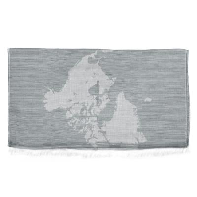 Alviero Martini 義大利地圖包 經典地圖素色方巾/L-灰色