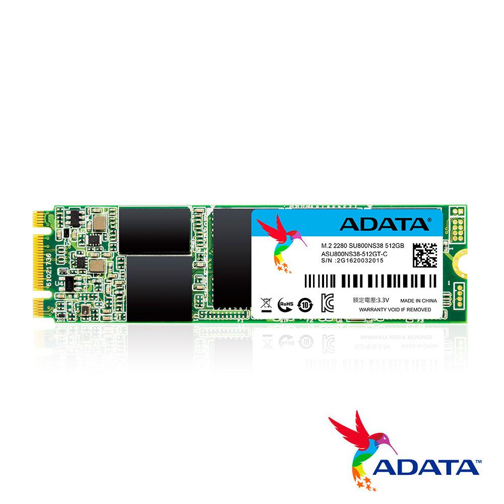 ADATA威剛 Ultimate SU800 512G M.2 2280 SATA SSD