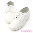 D+AF 活力女孩.超軟縫線底可後踩小白鞋*白
