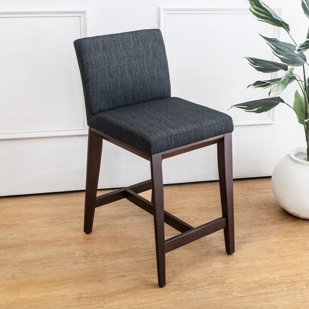 Bernice-夏爾德實木吧台椅/吧檯椅/高腳椅(矮)(二入組合)-42x56x86cm