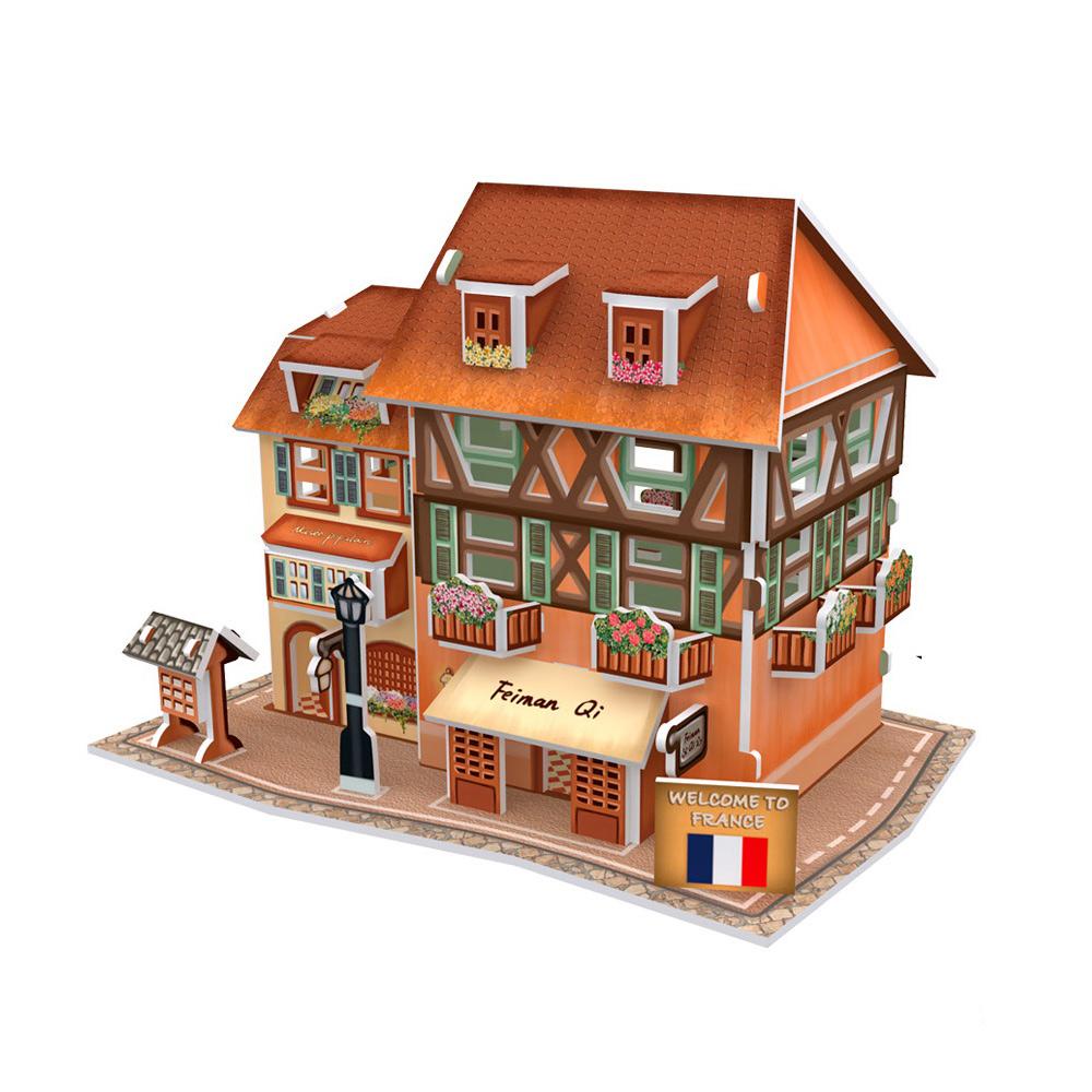 世界之窗 3D立體拼圖 《法國》 時尚服裝店 3D World Style