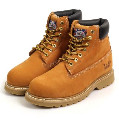 Kai Shin 高筒安全工作鞋 黃褐色