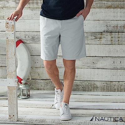 Nautica 經典彈力修身短褲 -淺灰