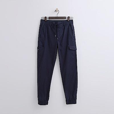 Hang Ten - 男裝 - 口袋休閒束口褲-藍色