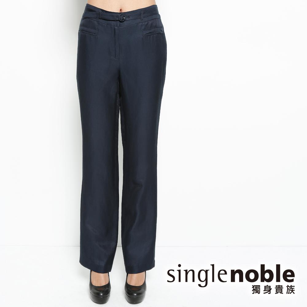 獨身貴族 輕盈質感 腰帶寬版長褲(共二色)