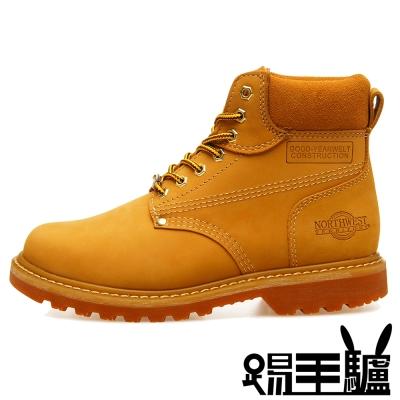 NORTHWEST 防潑水美式經典牛皮男女登山鞋TM-8606(金黃)
