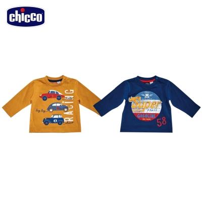 chicco男童印花長袖上衣(12-24個月)