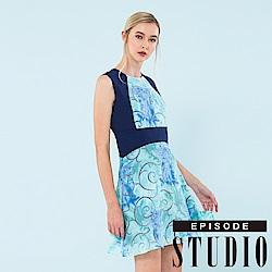 EPISODE Studio - 炫目幾何印花修身洋裝