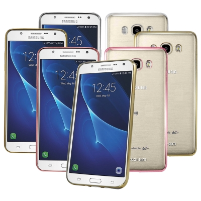 Metal-Slim SAMSUNG GALAXY J7(2016)電鍍TPU軟...