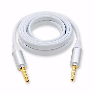 aibo 3.5mm 三環四節鍍金接頭 薄型防拉扯音源線(公-公)-1.2米