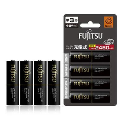Fujitsu 低自放3號2450mAh 鎳氫充電電池(4顆入)