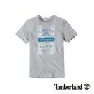 Timberland 男款淺灰時尚戶外純棉短袖T恤